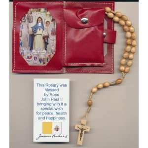 Beige Rosary Blessed by Pope John Paul II on 8/17/2002 in