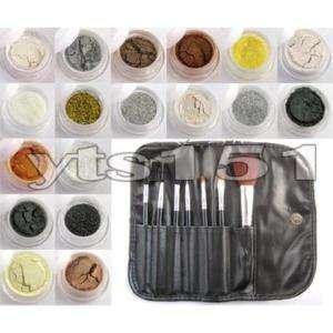 18 color eyeshadow powder pigment mineral + a case y005