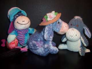 Disney Store Rare Plush Eeyore Stuffed Hard To Find Lot