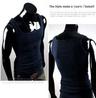 Mens Fashion Sexy Sleeveless Shirt Vest Tank Tops V1