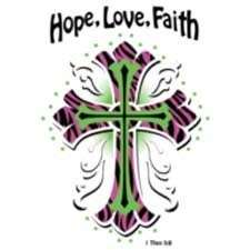 Hope Love Faith Color Cross Christian T Shirt Tank Top Hoodie Long
