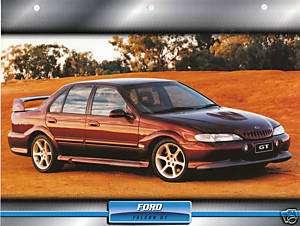 1997 FORD FALCON GT Australia Car 8.5x11 Print Sheet