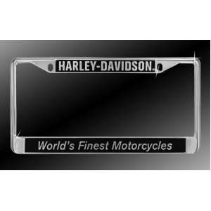 com Harley Davidson Car Truck SUV License Plate Frame Metal   World