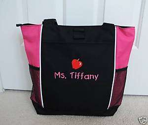 TOTE BAG Personalized Zippered Teacher Graduation Gift