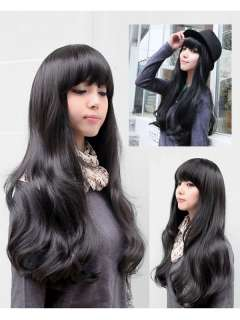 New Style Womens Girls Sexy Long Fashion Full Curly Hair Wig 3 Colors