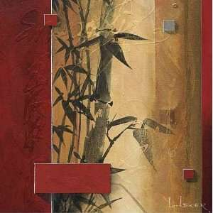 Don Li Leger 36W by 36H  Bamboo Garden CANVAS Edge #3