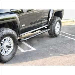 Black Horse Black Side Steps / Nerf Bars 06 10 Hummer H3 Automotive