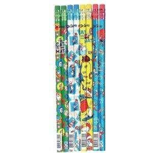 Set of 8 Dr. Seuss Cat in Hat Pencils
