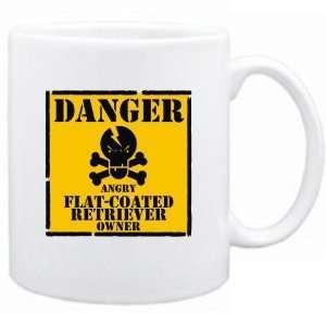 Danger  Angry Flat Coated Retriever Owner  Mug Dog