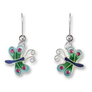 Sterling Silver & Enamel Earrings by Zarah Julie Mammano Jewelry