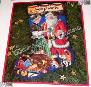Dimensions A PAUSE FOR CLAUS Stocking Needlepoint Christmas Kit