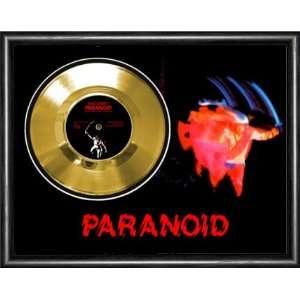 Black Sabbath Ozzy Paranoid Framed Gold Record A3
