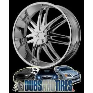 22 Inch 22x9.5 HELO wheels HE868 Chrome wheels rims