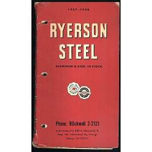 Ryerson Steel Aluminum & Steel in Stock 1957   1957 Catalog