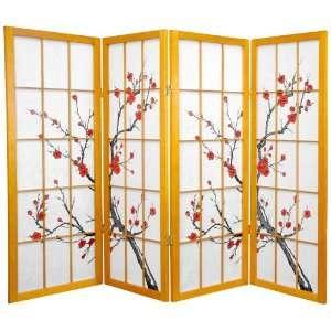 4 ft. Tall Cherry Blossom Shoji Screen  Honey   4P
