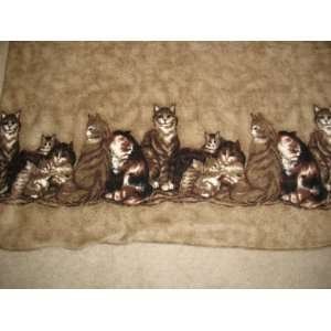 Kitten Kitty Cat Double Border Fleece Throw Blanket in