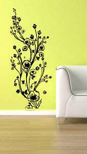 Vinyl Wall Decal Sticker Flower Branch Set Floral 5 ft
