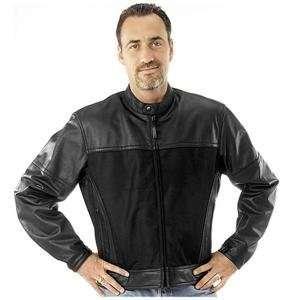 River Road Pecos Leather Mesh Jacket   50/Black