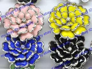 Wholesale lots 20pcs resin adjustable flower rings CR40