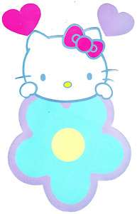 HELLO KITTY FLOWER STICK UPS WALL BORDER CUT OUT STICKERS