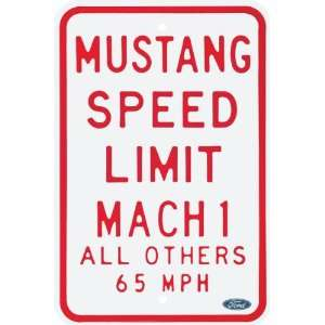 Ford Mustang Speed Limit Steel Street Sign