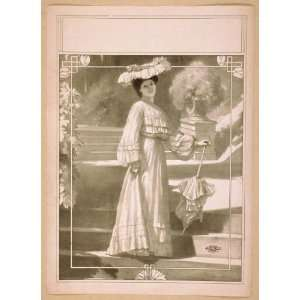 Poster Full length image of woman, standing on steps