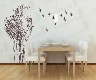Large Tree Bird Removable Wall Decal Vinyl Sticker Deco