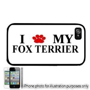 FOX TERRIER Paw Love Dog Apple iPhone 4 4S Case Cover