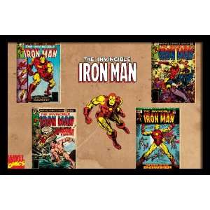 Man Comic Book Covers , 20 x 30 Framed Poster Print