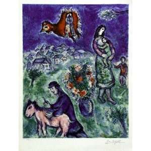 Sur la Route du Village by Marc Chagall   32 1/4 x 24 3/8