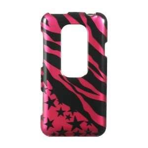 HTC EVO 3D Graphic Case   Hot Pink Zebra with Stars (Free
