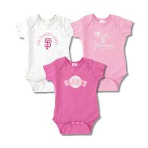 San Francisco Giants Infant Girls Baby Rib Pink Creeper 3