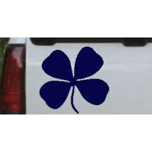 Navy 14in X 13.5in    Four Leaf Clover Car Window Wall Laptop Decal