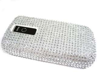 BLING FACEPLATE HARD SKIN CASE COVER HTC MY TOUCH 3G G2 SILVER