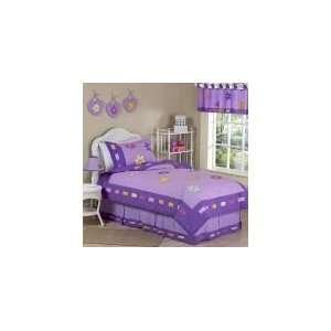 : Daisies 4 Piece Twin Comforter Set   Girls Bedding: Home & Kitchen