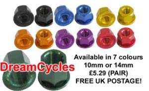 Savage BMX Bike Wheel Axle Nuts (PAIR) 7 colours ALLOY 5055530905313