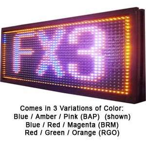 FX3 Programmable 3 Color LED Window Sign Display (BAP) 22