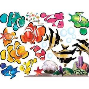 FISH UNDER THE SEA WALL DECAL MURAL DECO STICKER EL03