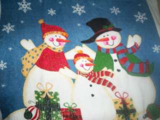 NORTHPOINT WINTER COTTON KITCHEN DISH TOWEL * Happy #Snowman Family