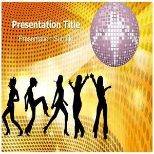 Night Party Powerpoint Template   Backgrounds on Night Party