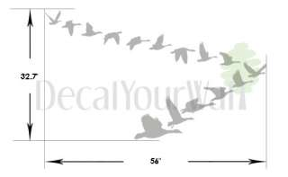 Flying geese birds Removable Wall Decal Vinyl Sticker