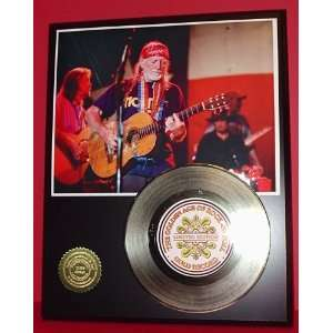 Gold Record Outlet Willie Nelson 24KT Gold Record Display