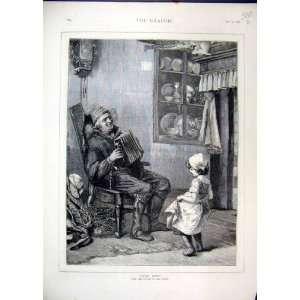 Little Pepita 1876 Girl Dancing Old Man Music Fine Art