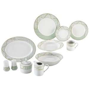 Nikita 47Pc Fine Porcelain China Set:  Kitchen & Dining