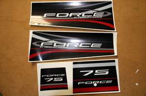 Mercury Force 75 outboard graphics/sticker kit