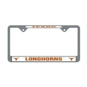 University of Texas Longhorns   Chrome License Plate Frame