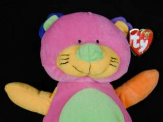 Baby TY Kitty Cat Kitten Pink Lovey Plush green purple