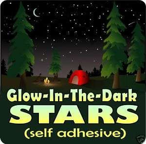 GLOW IN THE DARK STARS removable wall decal sticker art
