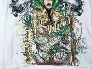 New Mens Jesus Malverde Designer T Shirt With Rhineston