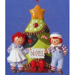 Raggedy Ann & Andy Noel Christmas Tree Ornament Home & Kitchen